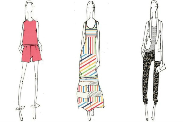 Sketches from Peter Som for Kohl's