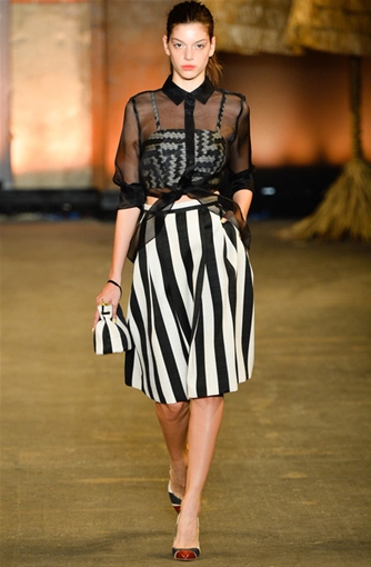 Straight from Christian Siriano's Spring 2014 Runway Show at NYFW, this full look is available on ShopGrl.com