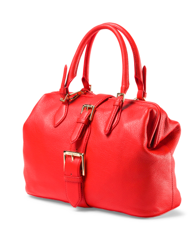 Isaac Mizrahi Red Leather Satchel