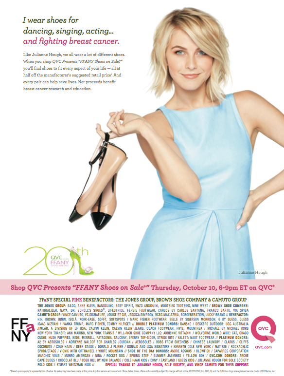 Support the Fight Against Breast Cancer & Shop QVC Presents 'FFANY Shoes On Sale' Tonight & the whole month of October!