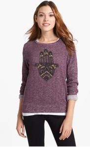 Lucky Brand 'Hamsa' Pullover at Nordstrom