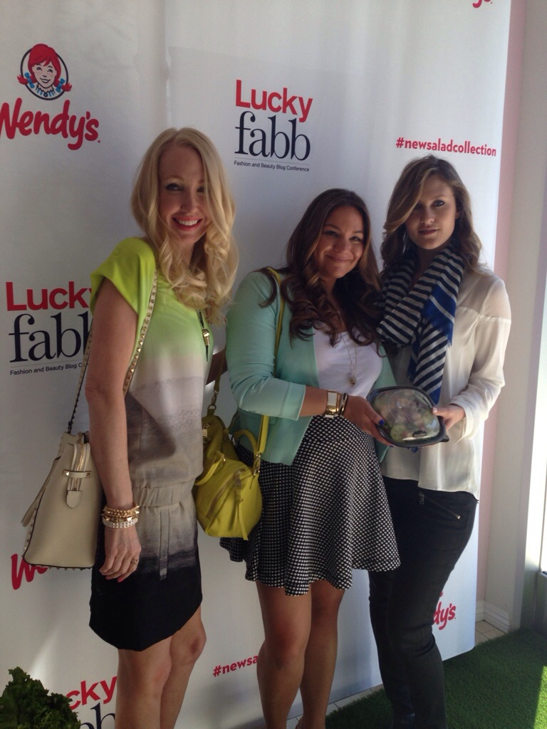 Wendys Fastfood New Salad Collection Lucky Fabb MissyOnMadison LA Bloggers