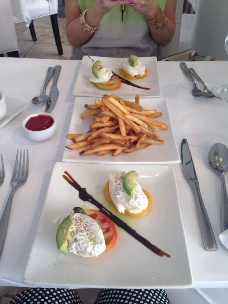 Instagram Food Villa Blanca Lunch Yummy MissyOnMadison Beverly Hills French Fries Salad Caprese