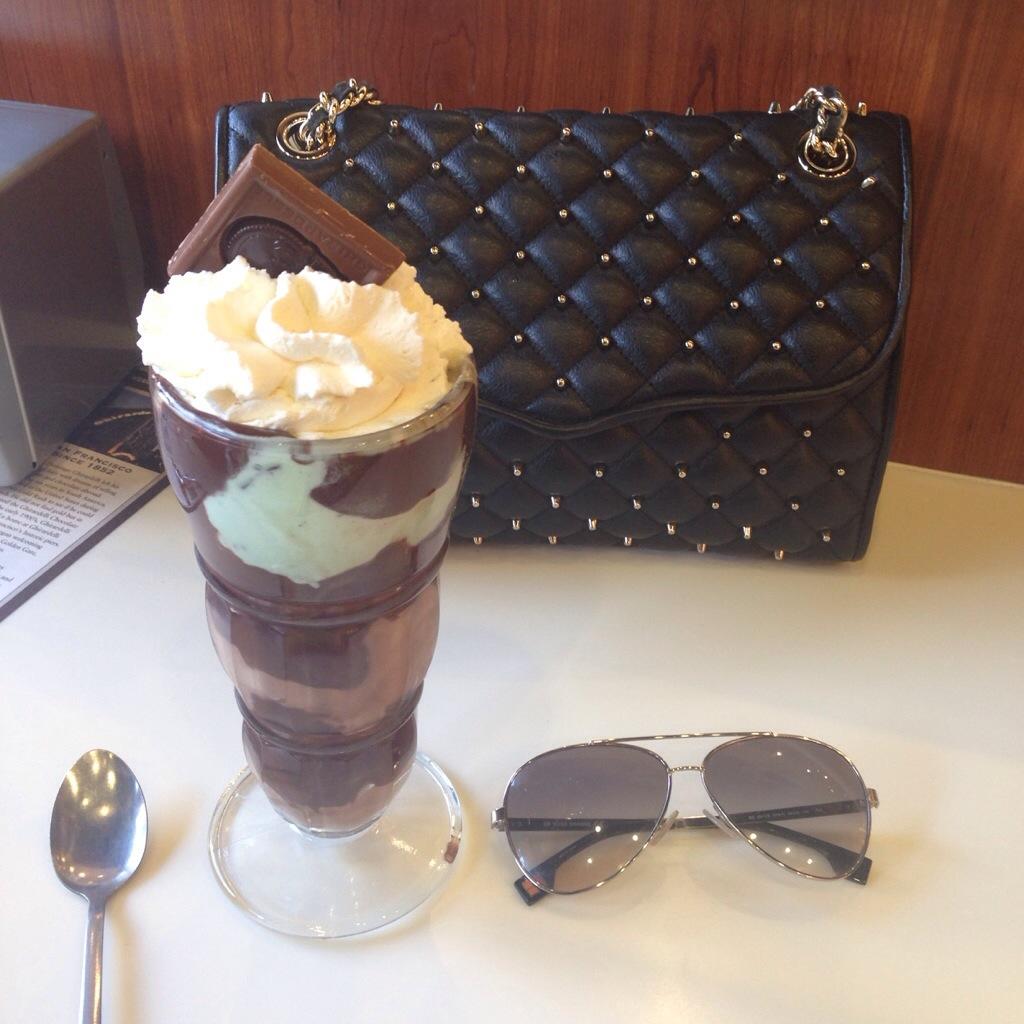 Rebecca Minkoff Handbags Designer Affair Bag Ice Cream Food Yum Yummy Dessert Aviator Sunglasses MissyOnMadison