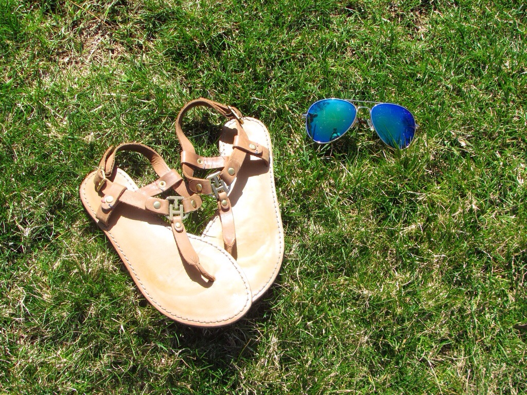 Boho Chic Mirrored Aviators Dress Outdoors Coachella Inspired MissyOnMadison Blog Blogger Tommy Hilfiger Sandals Gladiator Sandals Shop