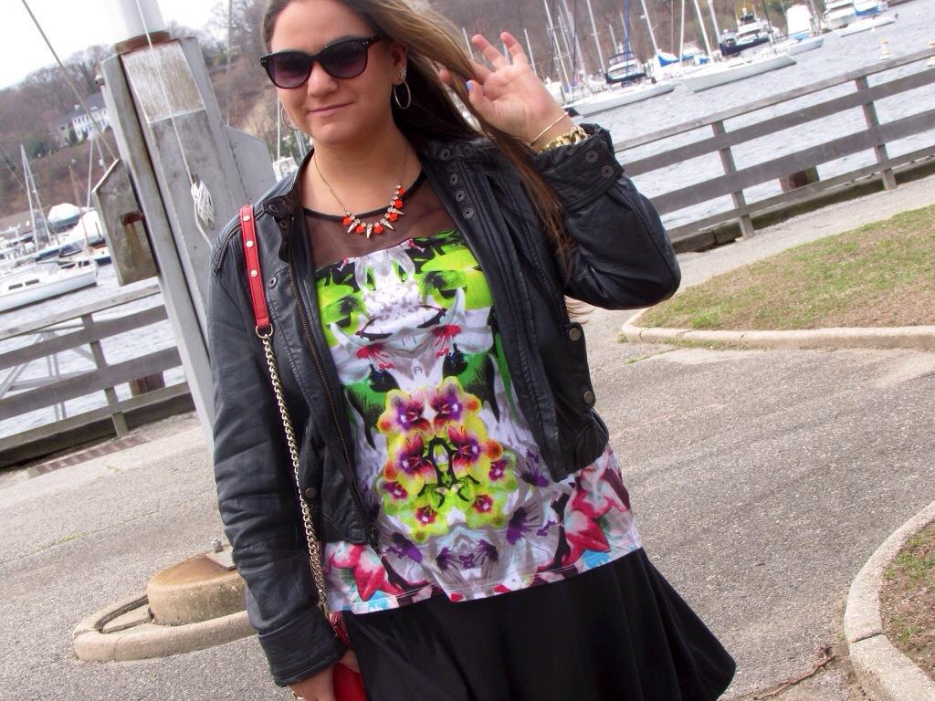 prabalgurung for targetstyle fashion style blog blogger missyonmadison colorful spring marina huntington ny rebecca minkoff leather jacket