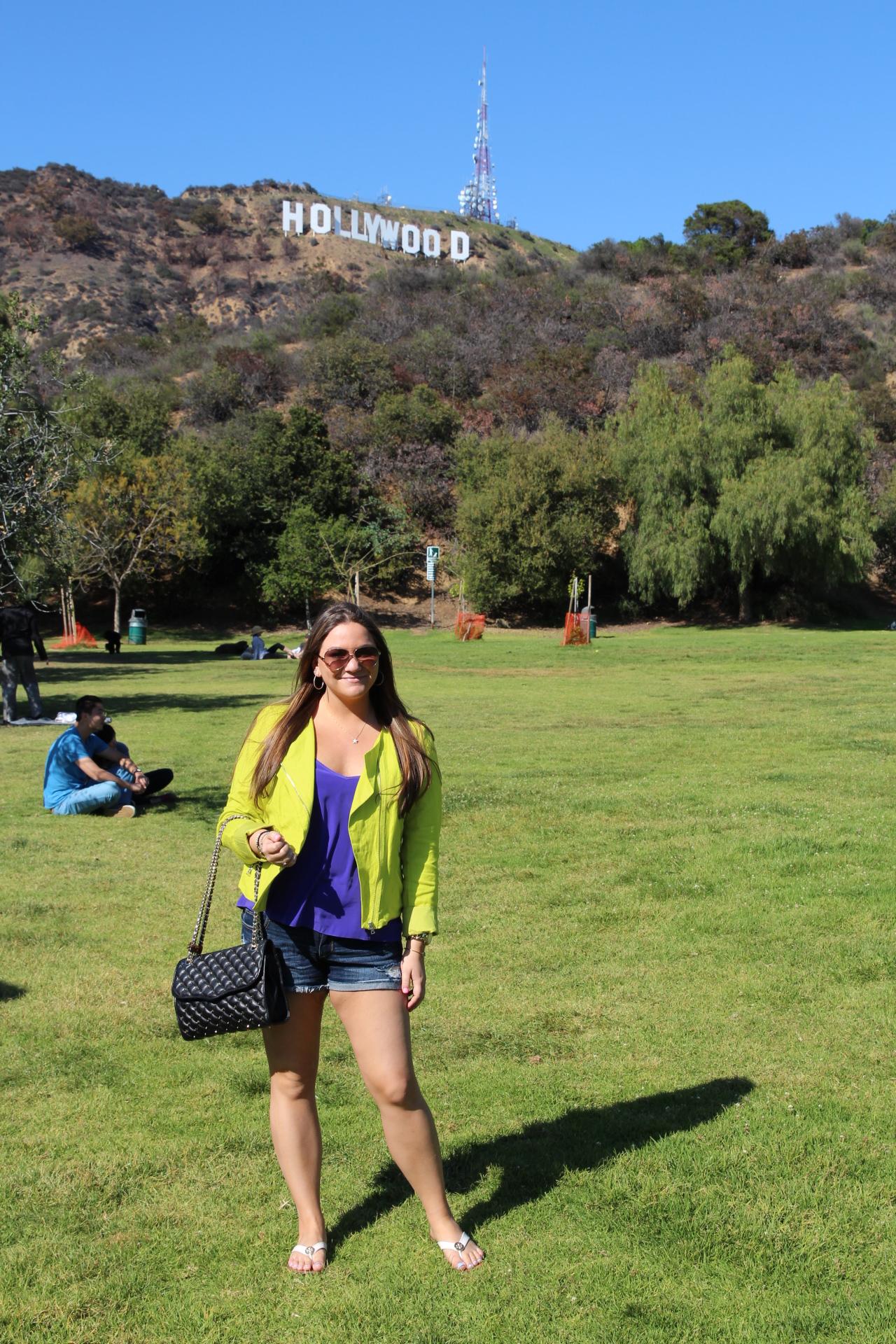 Hollywood Sign Tourist Cali California Trip Travel MissyOnMadison Vacation Neon Moto Jacket Rebecca Minkoff Fashion Blog Blogger Style