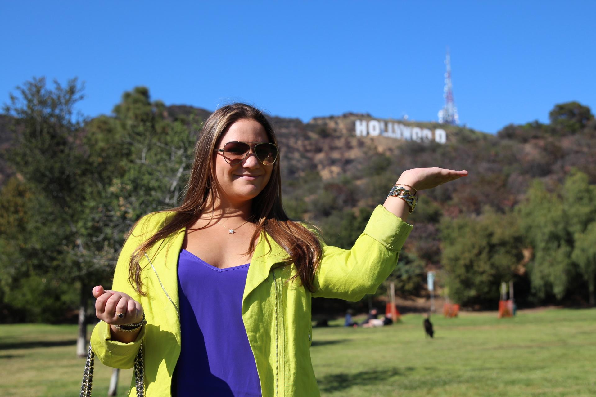 Karen Kane Neon Moto Jacket Hollywood Sign MissyOnMadison Blog Blogger Style Fashion