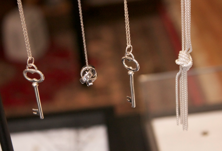 bling sterling silver key keys necklaces layering jewels jewelry fashion blog blogger missyonmadison bling nyc adornia