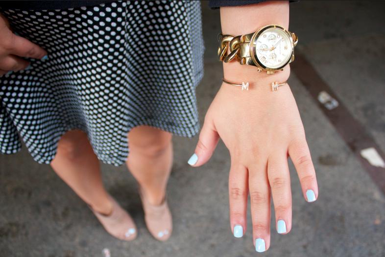 michaelkors style fashion blog blogger fashionblog fashionblogger missyonmadison styleblog goldwatch watch essie
