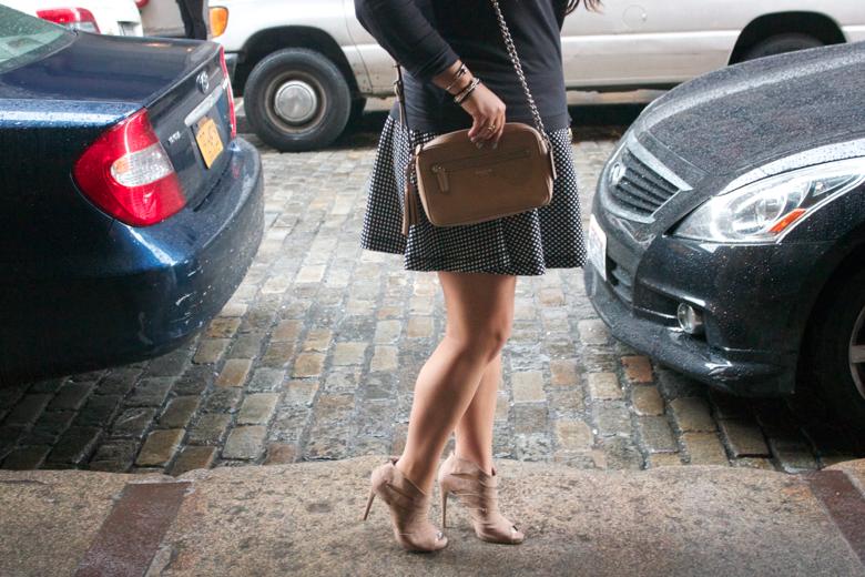 coach ninewest heels shooties nudepumps polkadots handbags nyc missyonmadison blog blogger fashionblog style